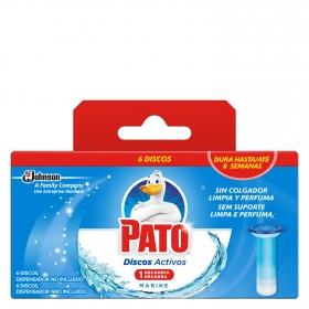 Discos activos inodoros aroma marino recambio Pato 1 ud.