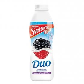 Yogur líquido 0% frambuesa y mora Dúo