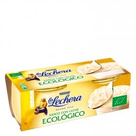 Arroz con leche ecológico Nestlé La Lechera pack de 2 unidades de 100 g.