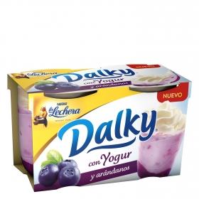 Copa Dalky con yogur y arándanos