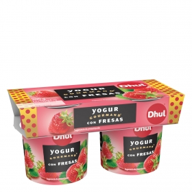 Yogur con fresas Gourmand