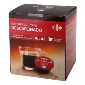 Café cápsulas natural compatible con Dolce Gusto descafeinado