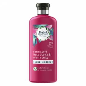 Acondicionador Purificante Fresa blanca & menta dulce bío:renew Herbal Essences 400 ml.