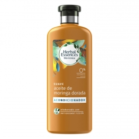 Acondicionador Suave Aceite de moringa dorada bío:renew Herbal Essences 400 ml.