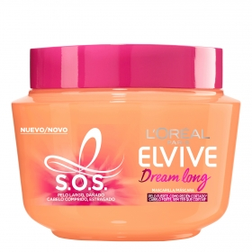 Mascarilla capilar Dream long Pelo largo dañado L'Oréal Elvive 300 ml.
