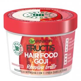 Mascarilla 3 en 1 Hair Food Goji Reaviva brilo Para cabello teñido