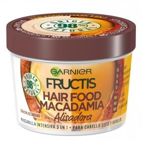 Mascarilla capilar 3 en 1 Hair Food Macadamia Alisadora Para cabello seco y revelde Garnier Fructis 390 ml.