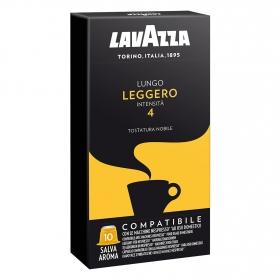 Café lungo ligero en cápsulas Lavazza compatible con Nespresso 10 unidades de 5 g.