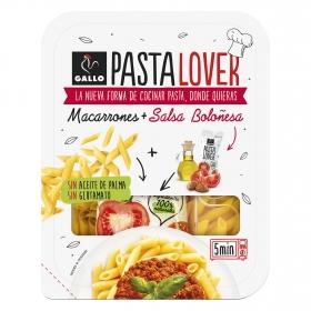 Macarrones + salsa boloñesa Pastalovers Gallo 180 g.