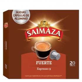 Café fuerte en cápsulas compatible con Nespresso