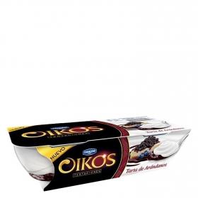Yogur griego con tarta de arándanos Danone Oikos Tentaciones pack de 2 unidades de 110 g.