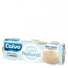 Atún claro al natural Calvo pack de 3 unidades de 52 g.