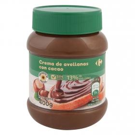 Crema de avellanas con cacao Carrefour 400 g.