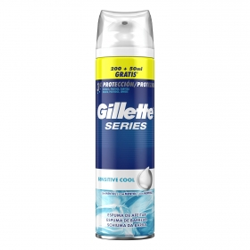 Espuma de afeitar Sensitive cool Gillette 200 ml.