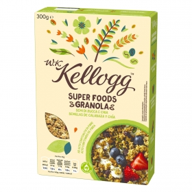 Cereales de semillas de calabaza y chía W.K Kellogg 300 g.