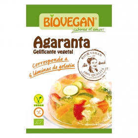 Gelificante vegetal bio sin gluten Agaranta