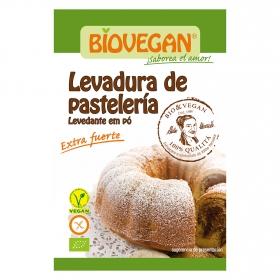 Levadura de pastelería ecológica Biovegan pack de 4 sobres de 17 g.