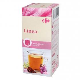 Infusión línea con té rojo, malva e hinojo