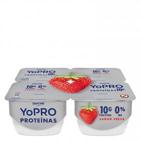 Yogur alto en proteínas sabor fresa 0% M.G.