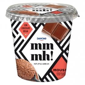 Mousse chocolate belga con leche
