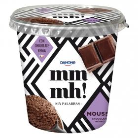Mousse de chocolate negro Danone - mmmh! 200 g.