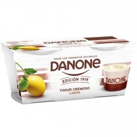 Yogur cremoso de limón Edición 1919 Danone pack de 2 unidades de 120 g.