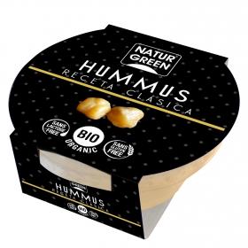 Hummus receta clásica ecológico NaturGreen sin gluten y sin lactosa 180 g.