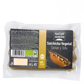 Salchicha vegetal de Seitán y tofu