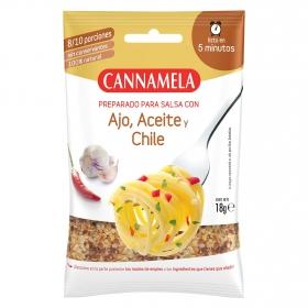 Preparado para salsa con ajo, aceite y chile Cannamela 20 g.
