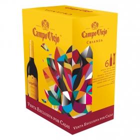 Vino tinto Rioja Crianza Campo Viejo pack de 6 botellas de 75 cl.