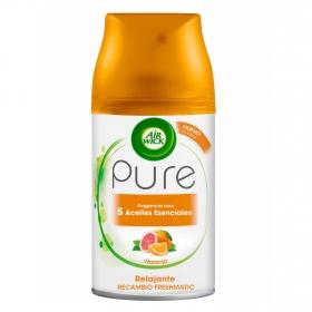 Ambientador Automático Recambio Fresh Matic Pure Aceites esenciales Naranja