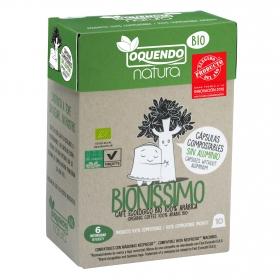 Café Bionissimo ecológico en cápsulas Oquendo compatible con Nespresso 10 ud.