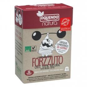 Café forzzuto en cápsulas Oquendo compatible con Nespresso 10 ud.