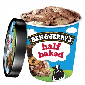 Helado de chocolate y vainilla con brownie y galletas Ben & Jerry's 500 ml.