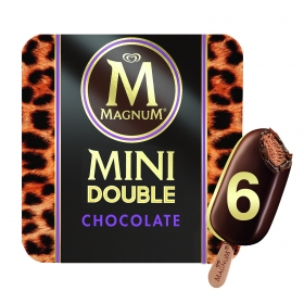 Mini bombón helado Double Chocolate Magnum 6 ud.