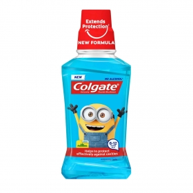 Enjuague bucal infantil Minions Colgate 250 ml.
