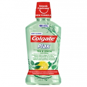 Enjuague bucal Plax Té y Limón Colgate 500 ml.