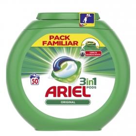 Detergente en cápsulas 3 en 1 Original Ariel 50 ud.