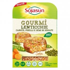 Hamburguesa de soja y lentejas verdes
