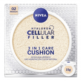 Crema Hyaluron Cellular Filler 3 en 1 Care Cushion 02 Medium Nivea 15 g.