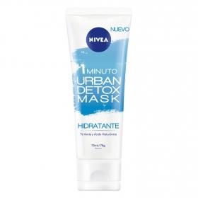 Mascarilla hidratante Urban Detox Mask Nivea 75 ml.
