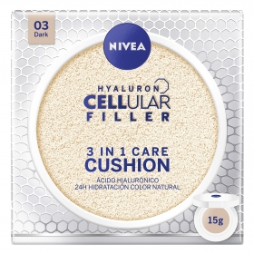 Crema Hyaluron Cellular Filler 3 en 1 Care Cushion 03 Dark Nivea 15 g.