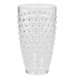 Vaso Redondo de Plástico 9x9cm - Transparente