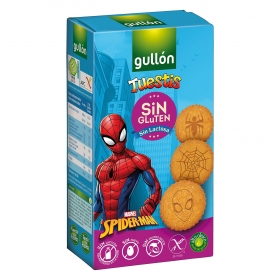 Galletas tuestis Spiderman sin gluten y sin lactosa