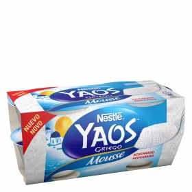 Mousse de yogur griego azucarado