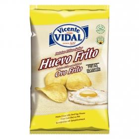 Patatas fritas sabor huevo frito Vicente Vidal sin gluten 135 g.