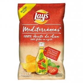 Patatas fritas mediterráneas tomate y albahaca sin gluten