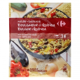 Salteado de bulgur y quinoa con verduras Carrefour 450 g.