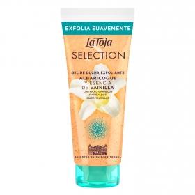 Gel de ducha exfoliante albaricoque y esencia de vainilla Selection