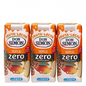 Zumo de frutas+leche Tropical Funciona Max